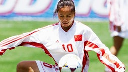 Die chinesische Nationalspielerin Liu Ailing © picture-alliance/EPA/AFP Foto: Timothy A. Clary