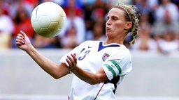 Die US-amerikanische Nationalspielerin Kristine Lilly © imago/Icon SMI