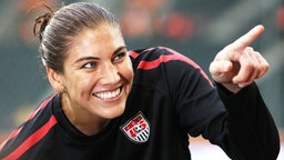 US-Nationaltorhüterin Hope Solo © picture-alliance/dpa Foto: Friso Gentsch