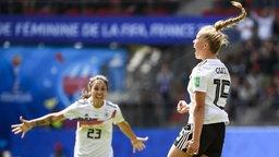 Giulia Gwinn bejubelt ihren Treffer zum 1:0 gegen China.