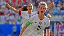 US-Nationalspielerin Megan Rapinoe beim Torjubel.