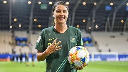 """Die australische Nationalspielerin Samantha """"Sam"""" Kerr"""