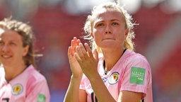 Die schottische Nationalspielerin Claire Emslie