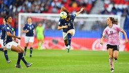 Argentiniens Vanesa Santana (M.) gegen Schottland